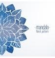 Watercolor flower blue pattern vector image