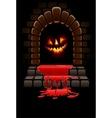 halloween fireplace vector image vector image