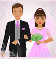 betrothed pair vector image