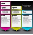 Colorful paper arrows for text vector image vector image