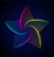abstract rainbow star vector image
