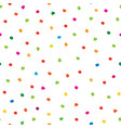 abstract seamless pattern with hand drawn polka vector image