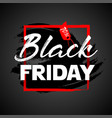 black friday flat designed banner vector image