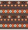 Ethnic ornament orange vector image