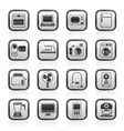 household appliances and electronics icons vector image