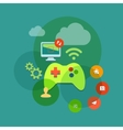 mobile and console games flat icon vector image
