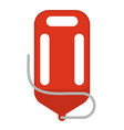red life saver vector image