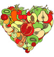 Fruit Love Heart Ornament vector image