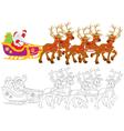 Santa Claus sledding vector image vector image