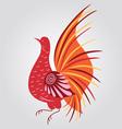 Russian style bird vector image