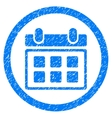 Calendar Rounded Icon Rubber Stamp vector image