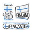 logo for finland vector image