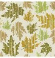 autumn grunge pattern vector image vector image