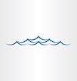 water waves sea or ocean abstract design vector image