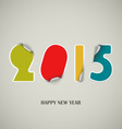 New Years wishes as colored stickers background vector image vector image