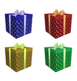 four color gift boxes vector image vector image