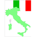 6203 italy map and flag vector image