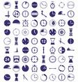clock icon on white vector image