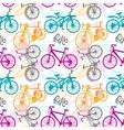 Seamless pattern bike vector image