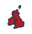 flat iconon white background map of Britain vector image