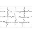 Puzzle jigsaw template vector image
