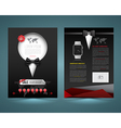brochure template design tuxedo style vector image