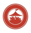 circus horse entertainment icon vector image