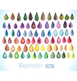 Colorful rainbow drops vector image