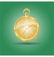 Golden watch vector image