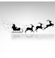 santa claus driving in a sledge vector image