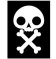 skull icon black background vector image