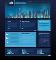 Web site design night city vector image