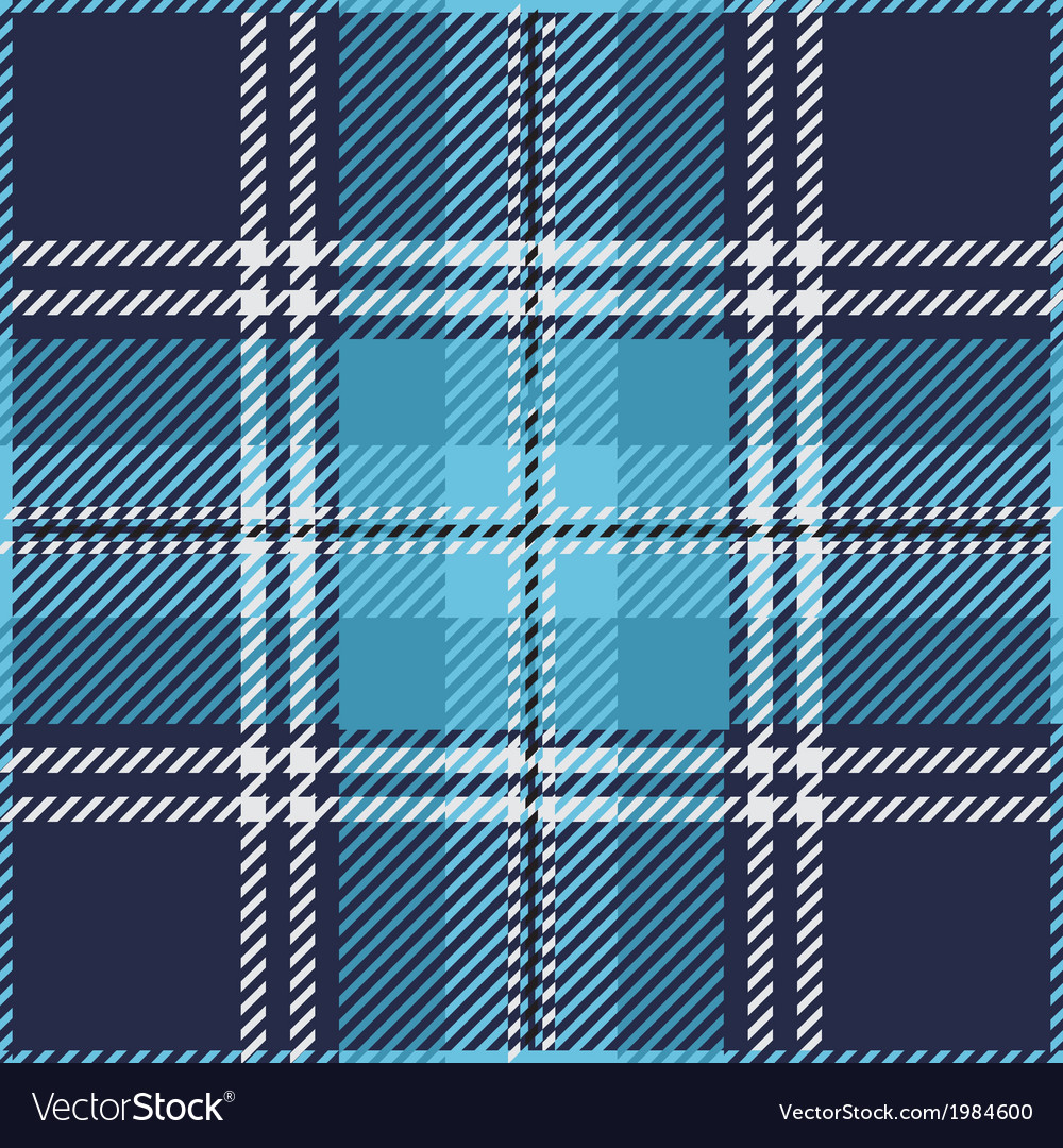 Blue tartan plaid pattern vector