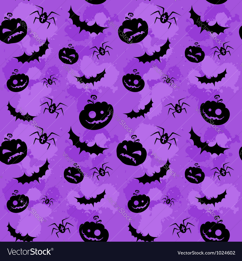 Halloween seamless background lilac big vector