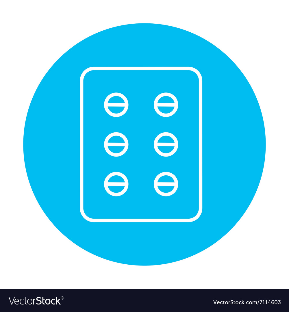 Plate of pills line icon vector
