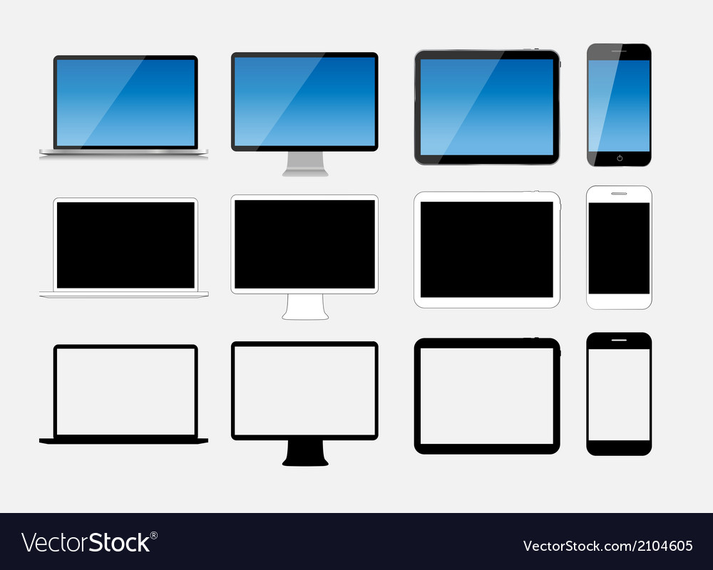 Abstract design mobile phone laptop and tablet pc vector