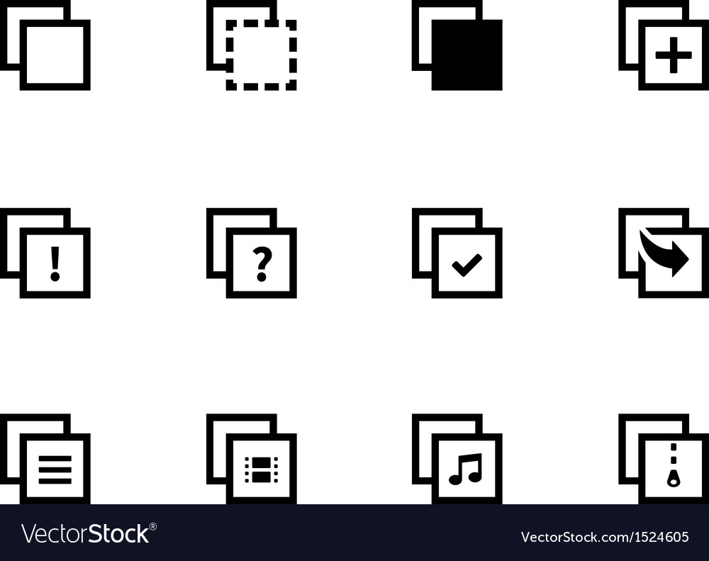 Copy paste icons for apps web pages vector