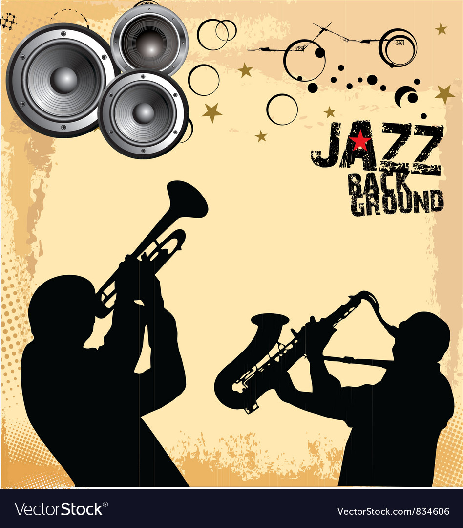 Jazz music grunge background vector