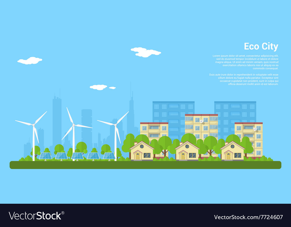 Eco city 2 vector