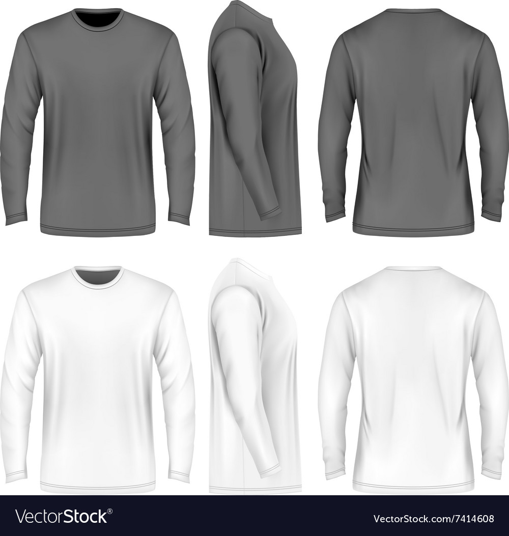 Men long sleeve tshirt vector