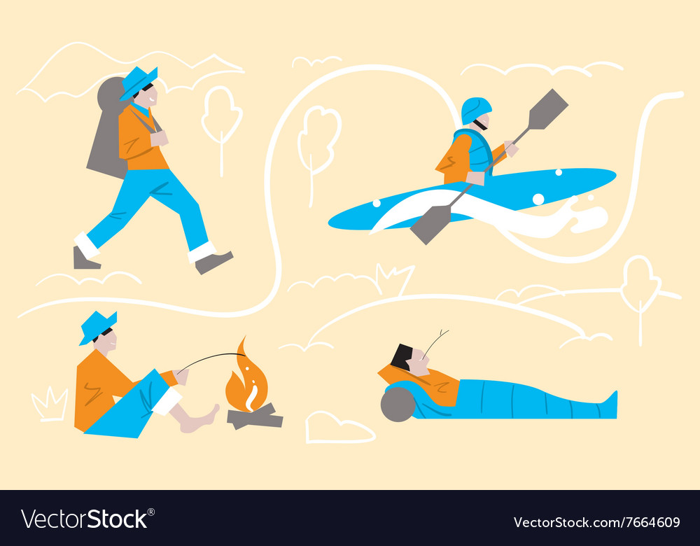 Outdoor activities tourism leisure vector