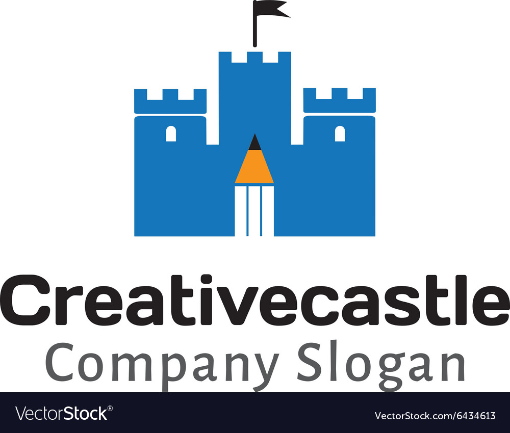 Creative design castle vector