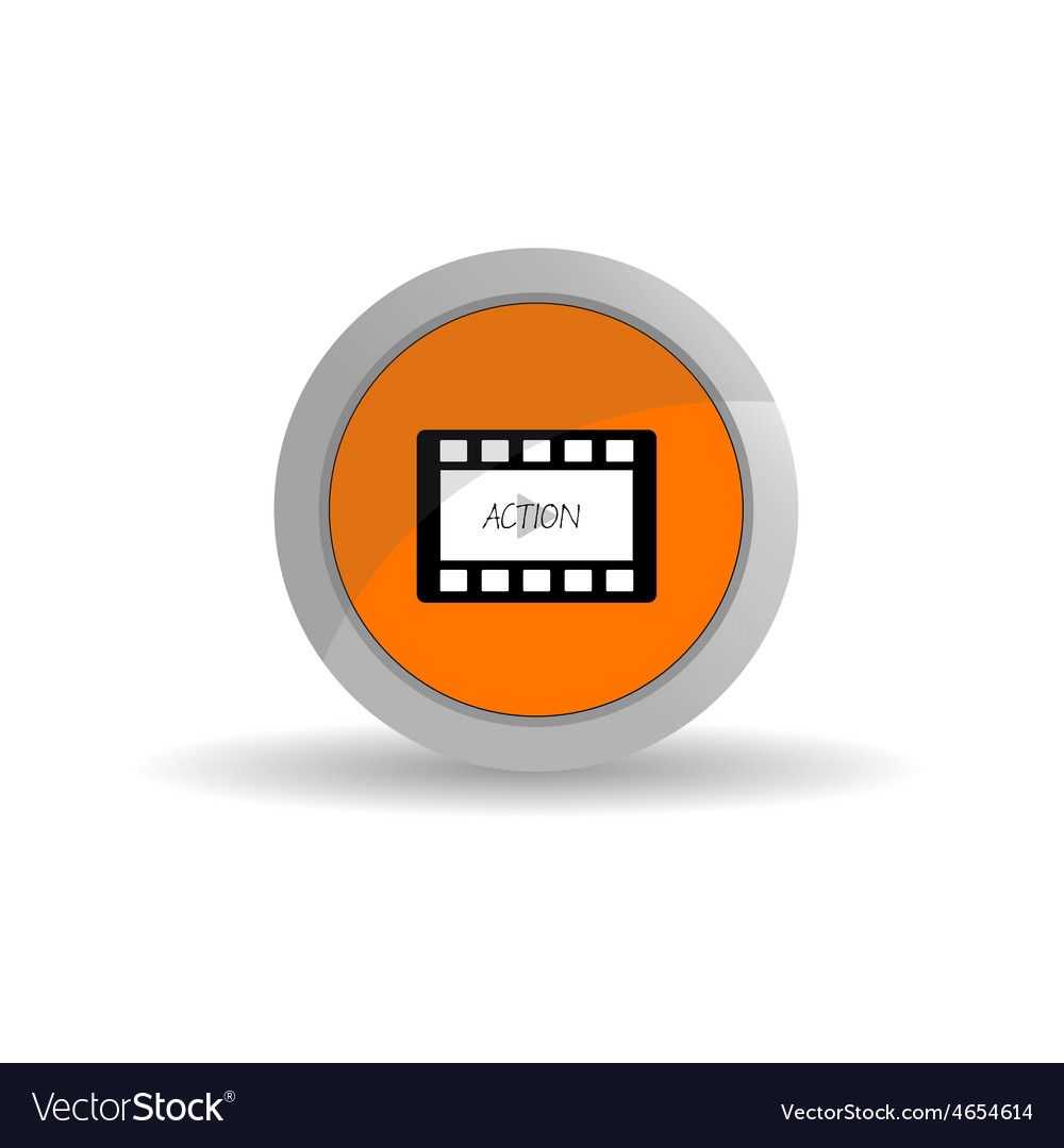 Film tape action color vector