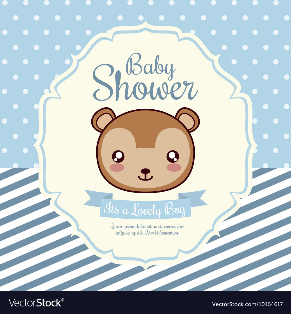 Kawaii squirrel baby shower design vector