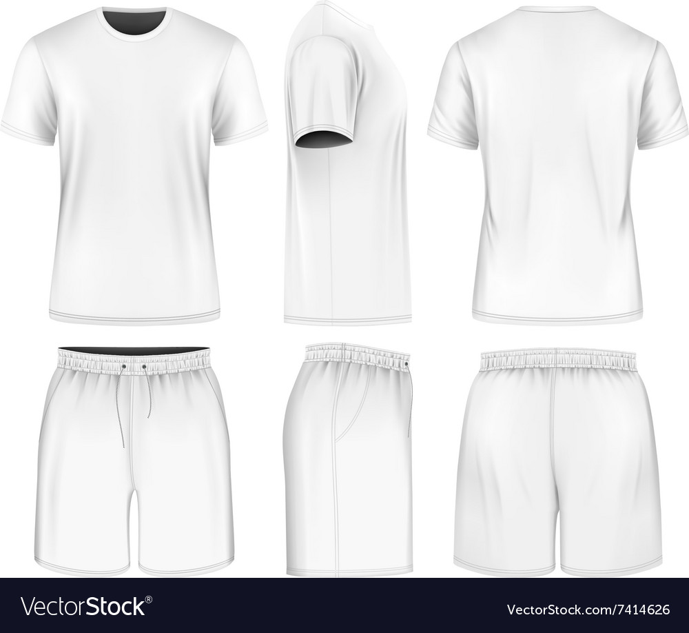 Men short sleeve tshirt and sport shorts vector