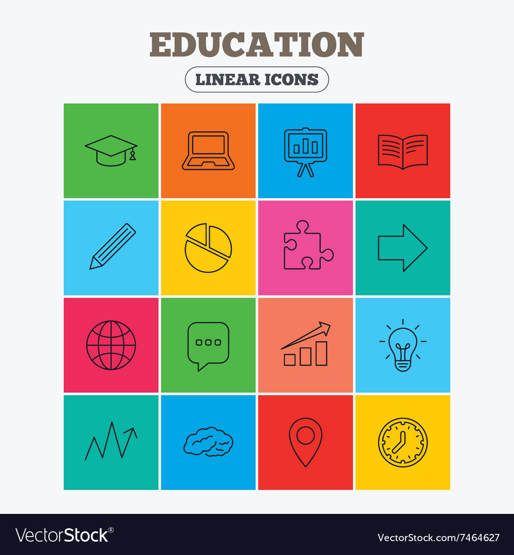 Education icon graduation cap pencil and book vector