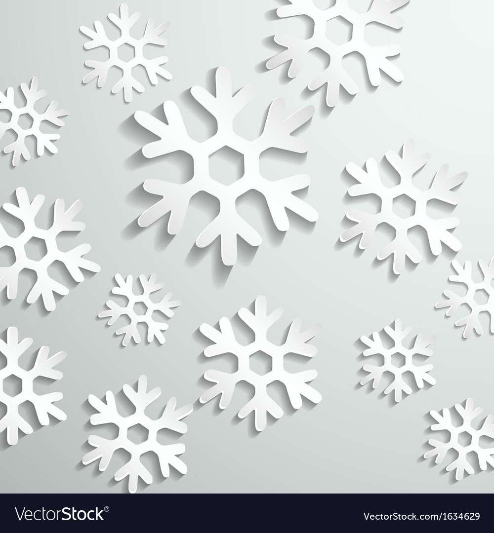 Abstract paper snowflake background vector