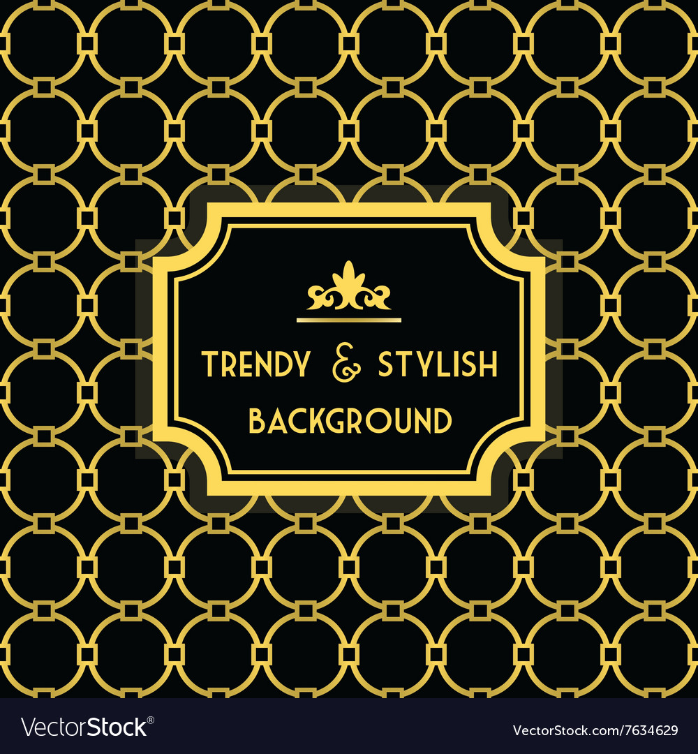 Golden and black trendy and stylish pattern vector