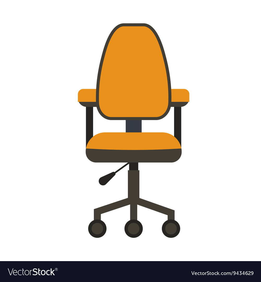 Office chair flat icon vector