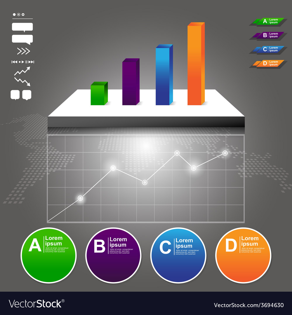 Blank graph and chart symbol infographic vector